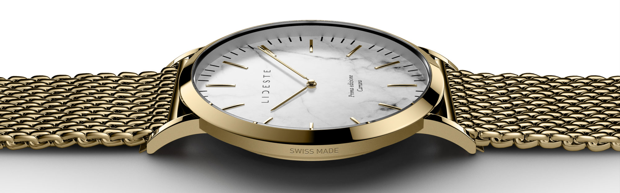 gold mesh watch for men and women