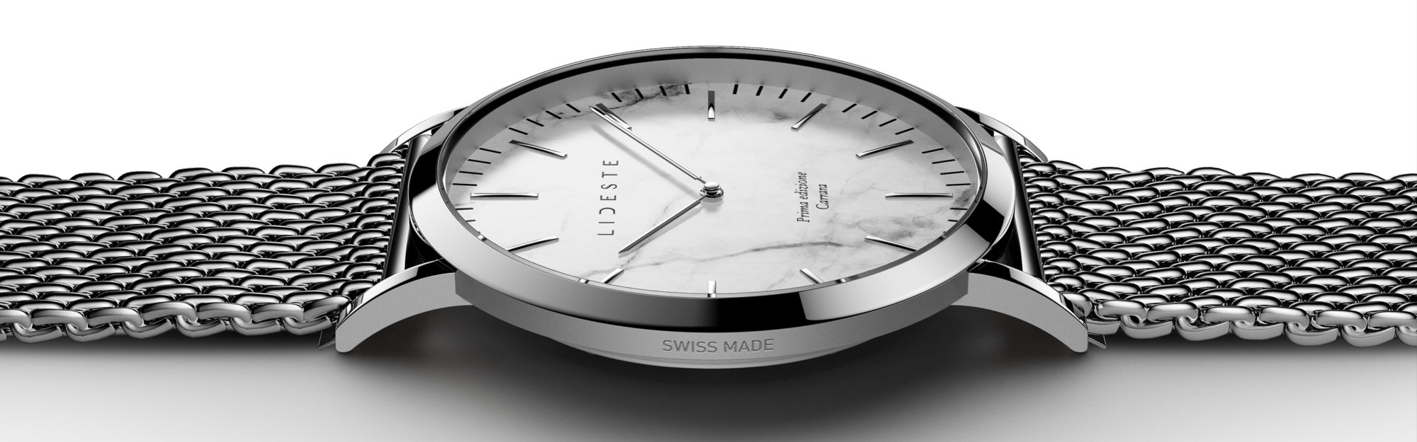 silver mesh watch for men and women