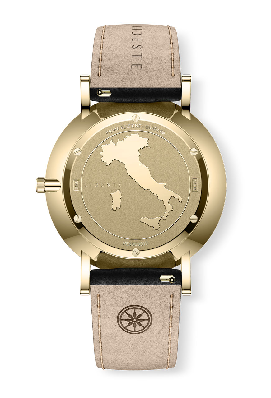 053c5a107510a Gold Leather Watch | With Italian Marble | Lideste